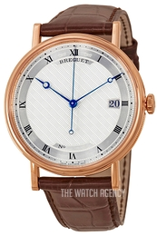 Breguet Classique Silver colored/Leather Ø38 mm 5177BR-12-9V6