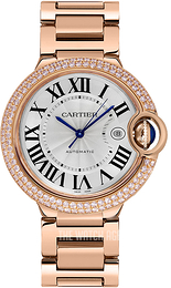 Cartier Ballon Blue Silver colored/18 carat rose gold Ø42 mm WJBB0029