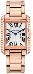 Cartier Tank Anglaise Silver colored/18 carat rose gold WT100027