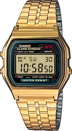 Casio Casio Collection Yellow gold toned steel 36.8x33.2 mm A159WGEA-1EF