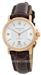 Certina DS Caimano Silver colored/Leather Ø27 mm C017.207.36.037.00