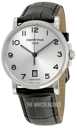Certina DS Caimano Gent Silver colored/Leather Ø38 mm C017.410.16.032.00