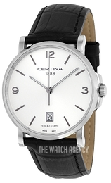 Certina DS Caimano Gent Silver colored/Leather Ø38 mm C017.410.16.037.00