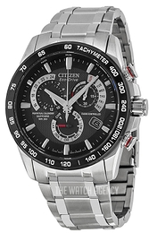 Citizen Radio Controlled Black/Steel Ø42 mm AT4008-51E