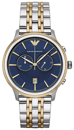 Emporio Armani Classic Blue/Yellow gold toned steel Ø43 mm AR1847