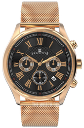 Executive Blazer Black/Rose gold colored steel Ø42 mm EX-1005-25
