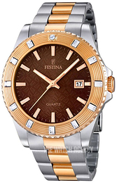 Festina Dress Brown/Rose gold colored steel Ø40 mm F16687-4