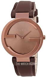 6961fa1f72f Gucci Interlocking Brown Leather Ø37 mm YA133309