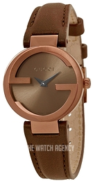 b6121a65e15 Gucci Interlocking Brown Leather Ø29 mm YA133504