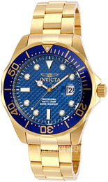 Invicta Pro Diver Blue/Yellow gold toned steel Ø47 mm 14357