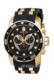 Invicta Pro Diver Black/Yellow gold toned steel Ø48.8 mm 6981