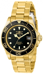 Invicta Pro Diver Black/Yellow gold toned steel Ø43 mm 9311
