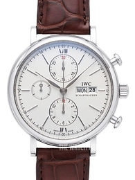 IWC Portofino Chronograph Silver colored/Leather Ø42 mm IW391007