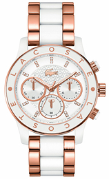 Lacoste White/Rose gold colored steel Ø40 mm 2000804