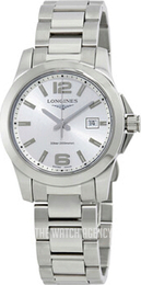 Longines Conquest Silver colored/Steel Ø29.5 mm L3.376.4.76.6