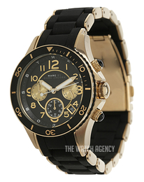 Marc by Marc Jacobs Rock Chrono Black/Yellow gold toned steel Ø40 mm MBM2598