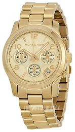 Michael Kors Runway Champagne colored/Yellow gold toned steel Ø38 mm MK5055