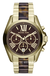 Michael Kors Bradshaw Brown/Yellow gold toned steel Ø47 mm MK5696