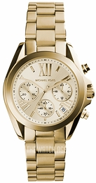 Michael Kors Bradshaw Champagne colored/Yellow gold toned steel Ø35 mm MK5798