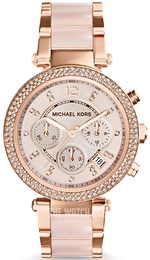 Michael Kors Parker Rose gold colored/Resin plastic Ø39 mm MK5896