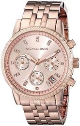 Michael Kors Ritz Rose gold colored/Rose gold colored steel Ø37 mm MK6077