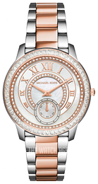 Michael Kors Madelyn White/Rose gold colored steel Ø40 mm MK6288