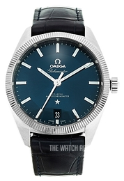 Omega Constellation Globemaster Co-Axial Chronometer 39mm Blue/Leather Ø39 mm 130.33.39.21.03.001