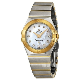 Omega Constellation Quartz 27mm White/18 carat yellow gold Ø27 mm 123.20.27.60.55.002