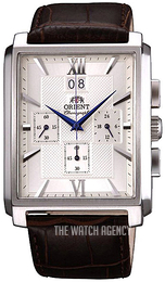 Orient Classic Silver colored/Leather FTVAA004S0