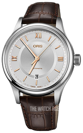 Oris Culture Silver colored/Leather Ø42 mm 01 733 7719 4071-07 5 20 32
