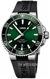 Oris Diving Green/Rubber Ø43.5 mm 01 733 7730 4157-07 4 24 64EB