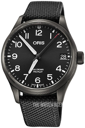 Oris Aviation Black/Leather Ø41 mm 01 751 7697 4264-07 5 20 15GFC