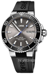 Oris Diving Grey/Rubber Ø45.5 mm 01 752 7733 4183-Set RS