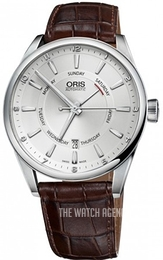 Oris Oris Culture Silver colored/Leather Ø42 mm 01 755 7691 4051-07 5 21 80FC