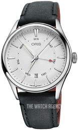 Oris Culture Silver colored/Leather Ø40 mm 01 755 7742 4051-07 5 21 34FC