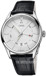 Oris Culture Silver colored/Leather Ø40 mm 01 755 7742 4051-07 5 21 64FC