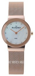 Skagen Freja White/Rose gold colored steel Ø26 mm 358SRRD