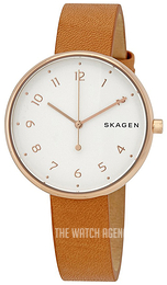 Skagen White/Leather Ø36 mm SKW2624