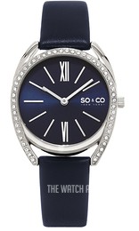So & Co New York Madison Blue/Leather Ø34 mm 5097.2