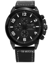 So & Co New York Monticello Black/Leather Ø48 mm 5212.4