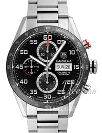 TAG Heuer Carrera Calibre 16 Day Date Automatic Chronograph Black/Steel Ø43 mm CV2A1R.BA0799