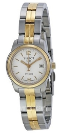 Tissot T-Classic White/Yellow gold toned steel Ø24.5 mm T049.210.22.017.00