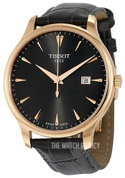 Tissot Tradition Gent Black/Leather Ø42 mm T063.610.36.086.00