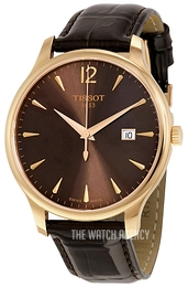 Tissot Tradition Gent Brown/Leather Ø42 mm T063.610.36.297.00