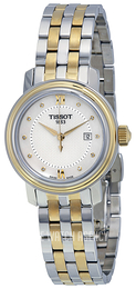 Tissot T-Lady Bridgeport Quartz Lady White/Yellow gold toned steel Ø29 mm T097.010.22.116.00
