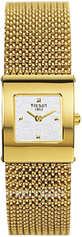 Tissot T-Gold Silver colored/18 carat yellow gold Ø22.6 mm T73.3.321.31