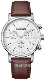 Wenger Urban Classic White/Leather Ø44 mm 01.1743.101