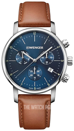 Wenger Urban Classic Blue/Leather Ø44 mm 01.1743.104