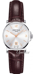 Certina DS Caimano Lady Silver colored/Leather Ø27 mm C017.210.16.037.01