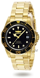 Invicta Pro Diver Black/Yellow gold toned steel Ø40 mm 8929